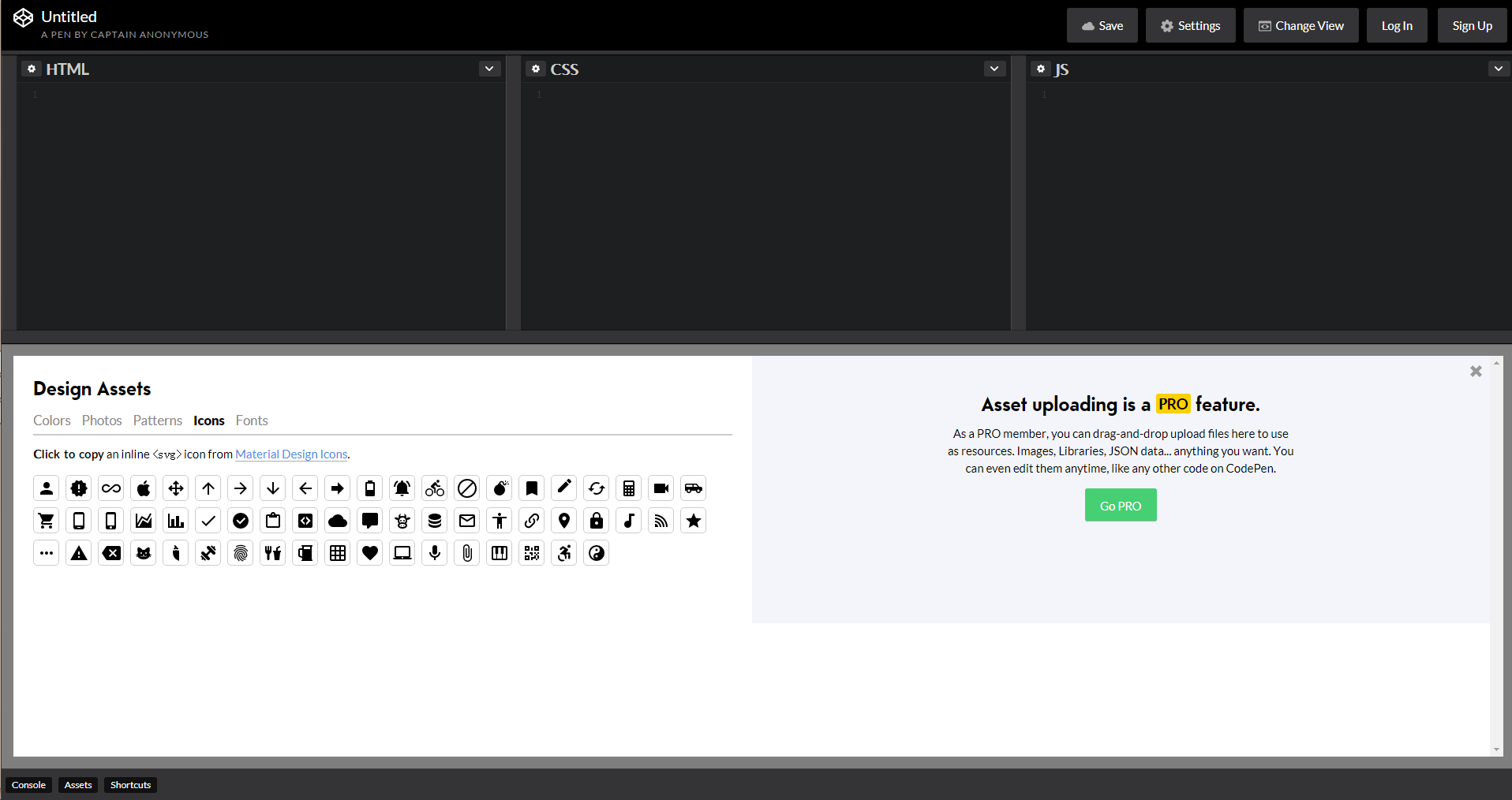 codePen,a good front-end develop and design display